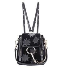 Chloe Faye Mini Leather Backpack Black