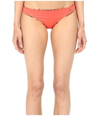 Roberto Cavalli Reversible Iconic Slip Bottoms Blush Women's Swimwear Pink