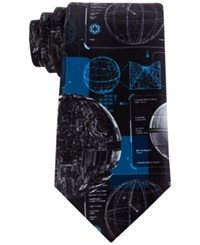 Star Wars Men's Death Plans Tie Black