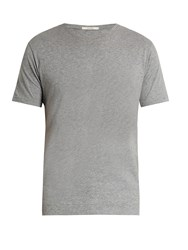 Adam By Adam Lippes Crew Neck Cotton T Shirt Grey