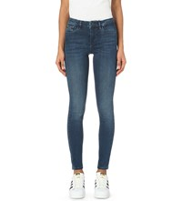 Calvin Klein Skinny High Rise Jeans Crushed Eighties Blue