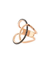 Lana Reckless Vol. 2 14K Rose Gold Illuminating Ring With Black Diamonds Size 7