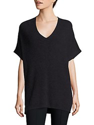 Vince Elbow Length Sleeve Ribbed Tunic Carbon
