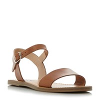 Steve Madden Kondi Sm Two Part Flat Sandals Tan