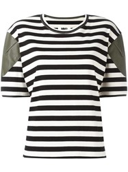Maison Martin Margiela Mm6 Striped T Shirt Black