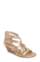 Isola Women's Petra Strappy Wedge Sandal Natural Leather