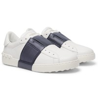 Valentino Panelled Leather Sneakers White