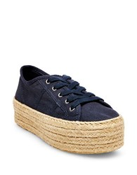 Steve Madden Hampton Lace Up Sneakers Navy Blue