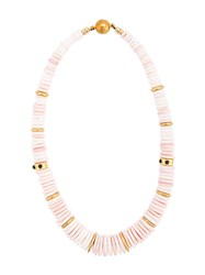 Lizzie Fortunato Jewels Circle Beaded Necklace Pink