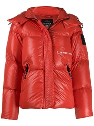 Peuterey Hooded Down Jacket Red