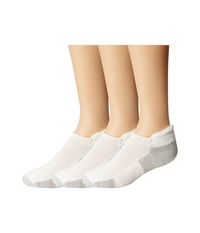 Thorlos Running Rolltop 3 Pair Pack White Platinum No Show Socks Shoes
