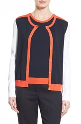 Women's Boss 'Fatila' Colorblock Cardigan