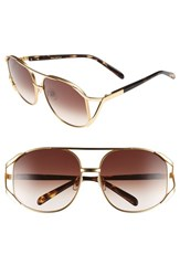 Wildfox Couture Women's Wildfox 'Dynasty' 59Mm Retro Sunglasses Gold Tortoise Brown Gradient