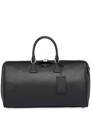 Prada Saffiano Leather Duffle Bag Black