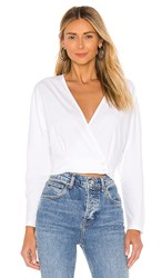 Amuse Society Shandie Long Sleeve Top In White.