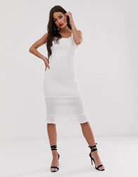 Finders Keepers Dolly Bodycon Midi Dress Cream