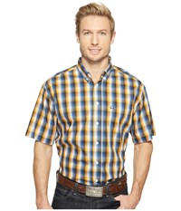 Cinch Short Sleeve Athletic Plaid Multicolored Men's Clothing