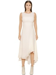 Akris Asymmetric Silk Crepe Georgette Dress