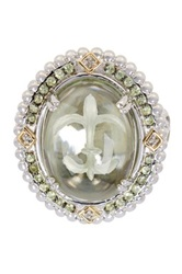 Phillip Gavriel 18K Yellow Gold And Silver Green Amethyst And Peridot Ring