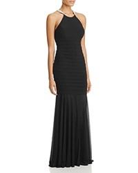 Aqua Embellished Banded Gown 100 Exclusive Black Berry