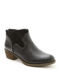 Kensie Gabor Suede Accented Ankle Boots Black