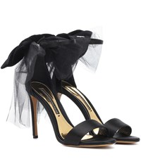 Alexandre Vauthier Bowdown 2 Satin Sandals Black