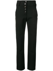 Carven High Waisted Trousers Black
