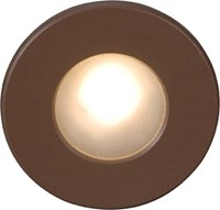 W.A.C. Lighting Ledme 310 Circular Scoop Step Light White Brown Silver