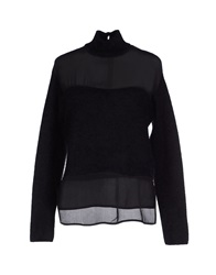 American Retro Turtlenecks Black