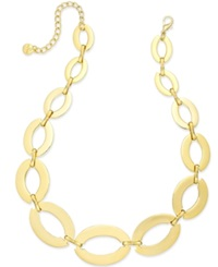 Alfani Polished Oval Frontal Necklace Only At Macys