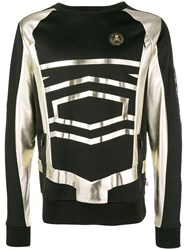Philipp Plein Metallic Print Jumper Black