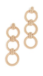 For Love And Lemons Circle Link Earrings Vintage Gold