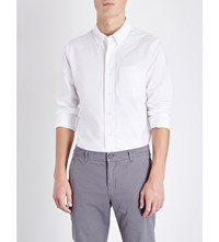 Orlebar Brown Oliver Tailored Fit Cotton Shirt White
