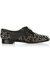 Christian Louboutin Freddy Spiked Leather Brogues Black