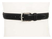 Johnston And Murphy Topstitched Belt Black Men's Belts