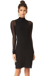 Blk Dnm Mesh Layer Dress Black