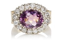 Renee Lewis Women's Amethyst And White Diamond Ring Purple