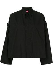 Y's Removable Sleeve Shirt Black