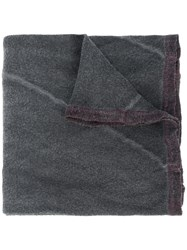 Lost And Found Ria Dunn Colour Block Scarf Grey