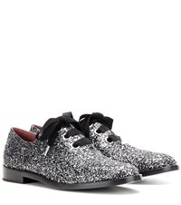 Marc Jacobs Patent Leather Oxford Shoes Silver