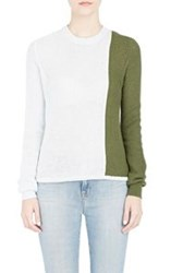 Alexander Lewis Colorblocked Sweater Blue