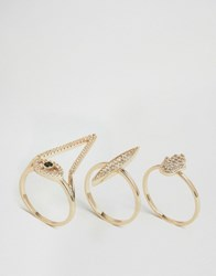 Aldo Noghere Stacking Rings Gold