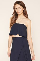Forever 21 Contemporary Strapless Crop Top