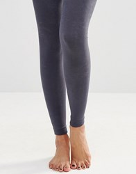 Plush Fleece Lined Footless Tights Grey
