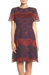 Maggy London Women's Lace Fit And Flare Dress