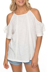 Roxy Hills Of Love Cold Shoulder Top Marshmallow