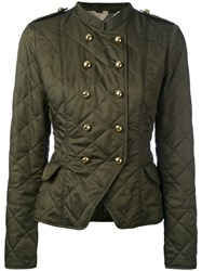 Burberry Equestrian Jacket Women Cotton Polyester S Green