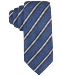 Tasso Elba Men's Knit Striped Classic Tie Only At Macy's Navy