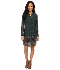 Kut From The Kloth Long Sleeve Shirtdress Teal Women's Dress Blue