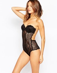 Fashion Forms Lace Backless Strapless Body Black